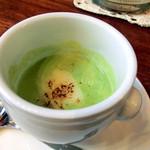 トラットリア はしまや - 菜の花とカリフラワーのスープ