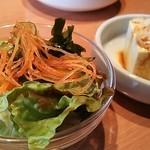 25906229 - ランチのサラダと豆腐
