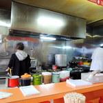 北京亭 - オープンキッチン