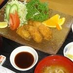 味処 双観山 - 松島特産カキのカキフライ定食