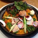 ラ ボデガ - 2014年4月ホタテとこだわり野菜のパエリャ 1,290円