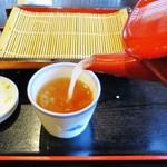 若松そば - 再訪:白い蕎麦湯