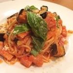 Gobu+ - ナスとベーコンのトマトパスタ