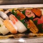 宅配寿司 茶月 - 七条(帆立を小肌に)