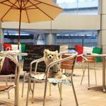 トラットリア ラ ブリアンツァ - 建物に囲われているテラス席