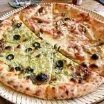 まるき - ジェノベーゼときのこのピザ