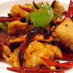 中国料理 仙ノ孫 - 鶏肉の唐辛子炒め