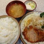 グリルおおくぼ - とんステーキ150g定食