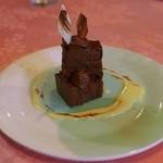 ビストロ・オブリン - デザートのチョコレートケーキ