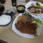 とんきち - ロースかつ(松)とメンチカツ