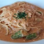25936672 - ウニと季節の野菜のトマトクリームソーススパゲッティ