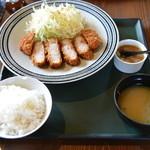 清旬の郷 - 三元豚の厚切りロースカツプレート