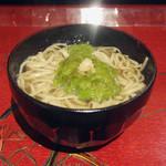 仁行 - お昼の蕎麦膳(1800円)のめかぶ蕎麦