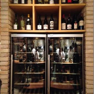 40種類以上のこだわりのワイン
