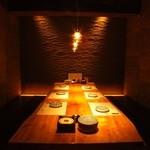 個室居酒屋 番屋 - 6〜8名様用、接待用掘りごたつ席。