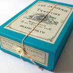 オオハシ - ミントグリーンティー(3TEABAGS)&煎茶チョコレート(8枚)BUTTON BOX ターコイズブルー