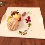 ドゥエマーニ - ドルチェの『モンブラン』...ミツバチをイメージしていました!