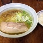 らーめん工房 RISE - 河内の塩(730円)+中ライス(170円)
