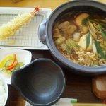 笹原 - 天ぷら味噌煮込定食