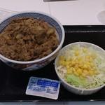 吉野家 - 料理写真:牛丼並300円+生野菜100円