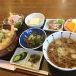 喜多山 - 舟橋村の喜多山さんでランチ。天丼、お蕎麦、山菜など盛りだくさん!