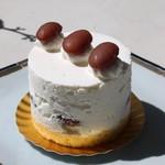 カオリ ヒロネ - 金時豆のショートケーキ