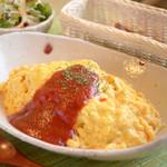 農かふぇ - 完熟トマトケッチャップ(サラダ付)