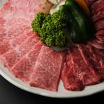 焼肉ぎゅうぎゅう - 国産黒毛和牛A-5番のお肉です(最高ランク)