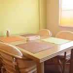 農かふぇ - 窓際のテーブルです!