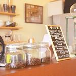 農かふぇ - 自家焙煎のコーヒーの香りが店内に広がります♪