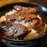 みき家 - 三種類のお肉をご飯に乗っけて