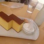 北海道牛乳カステラ - 北海道牛乳カステラ+ドリンクセット(500円)