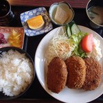 末広 - コロッケ定食(500円)※税別