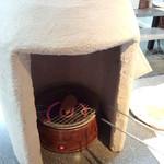 せんべい手焼き体験 コンロで焼きます(2014.04.06)