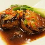中国薬膳料理 星福 - 茄子と海老のすり身の豆鼓炒め