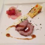 La cucina del Covo - イサキ、キッシュ、鴨肉