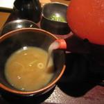 まつ屋 - 「蕎麦湯」は白濁系