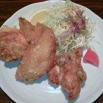 北極星 堀江店 - 若鶏唐揚3ピースサラダ付き(550円)