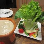 ビストロ タケノヤ - 料理の最初はバーニャカウダー890円。