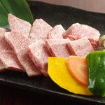 さが壱 - 伊万里牛食べくらべ4点盛り(特選カルビ、特選ロース、上カルビ、上ロース)
