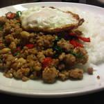 チェリージャム - ガパオライス(タイ風バジルとひき肉の炒めかけごはん)