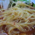 やきやき亭 - 麺はバリカタ?韓国麺風(^^;)