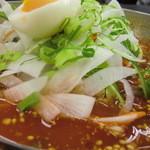 やきやき亭 - スープとトッピ野菜