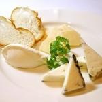 ラ・ベルデ - 3種のチーズ盛合せ