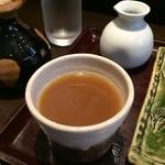そば処 卓 - トロミの少ない蕎麦湯です、お出汁が甘めなので、美味しいです