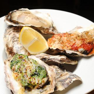 国内外問わず、吟味した新鮮な牡蠣をさまざまな調理法で堪能!