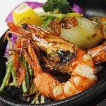 彩 - 海老のガーリックオイル焼き