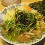 丸源ラーメン - 「チャーハンセット」の野菜肉そば