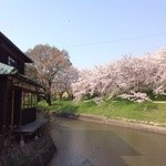 水辺のカフェ 三宅商店 酒津 - 水辺から見る外観(26.4撮影)