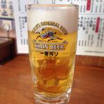 串かつでんがな - 140406 生ビール